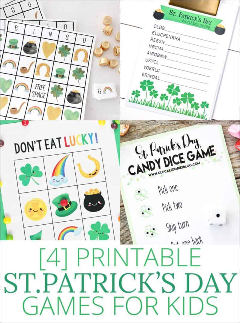 Four Printable St. Patrick's Day Games