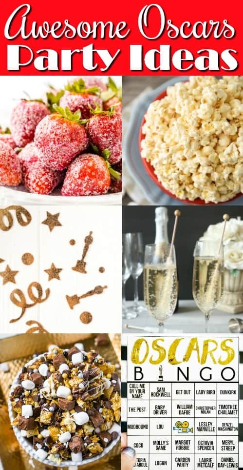 Oscar Party Recipe and Craft Ideas