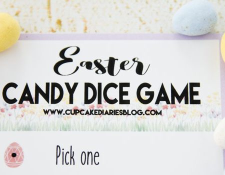Get the kids together to play this Easter Candy Dice Game! This is a great activity for the kids to play at a family party.