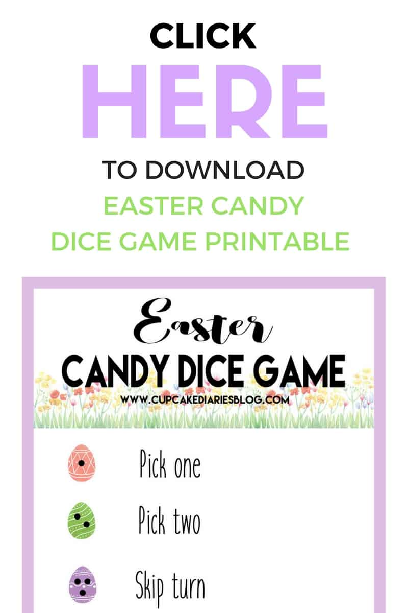 image relating to Printable Dice Games named Easter Sweet Cube Match