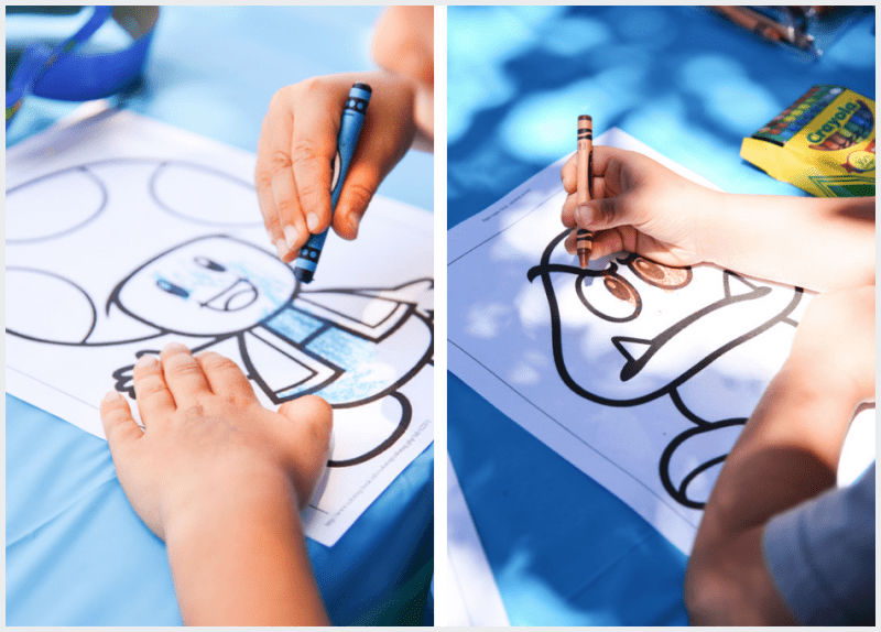 Coloring pages are the perfect activity for a Super Mario Bros. birthday party!