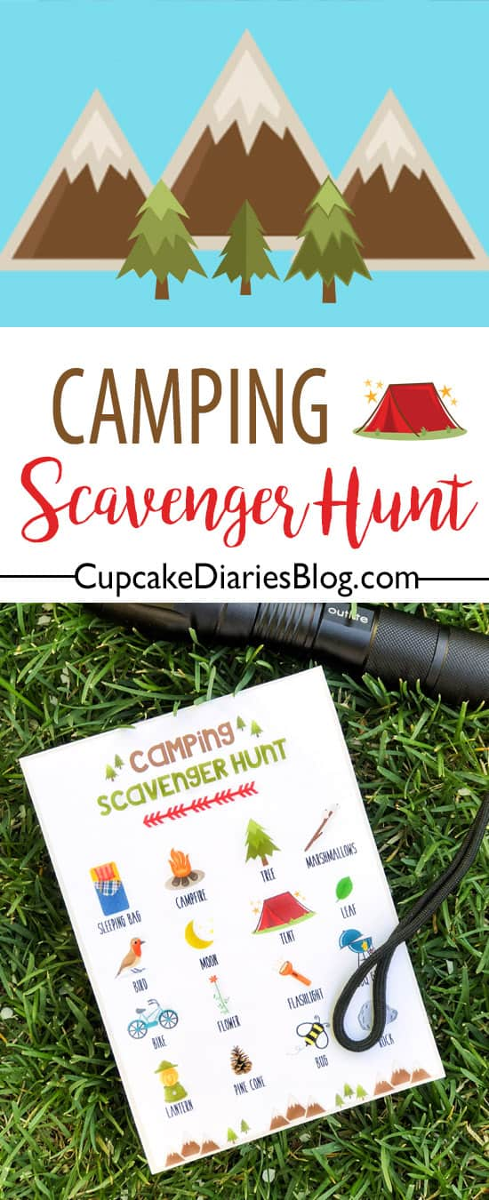 Whether you're out in the woods or having a campout in the backyard, a camping scavenger hunt is the perfect activity for the kids!