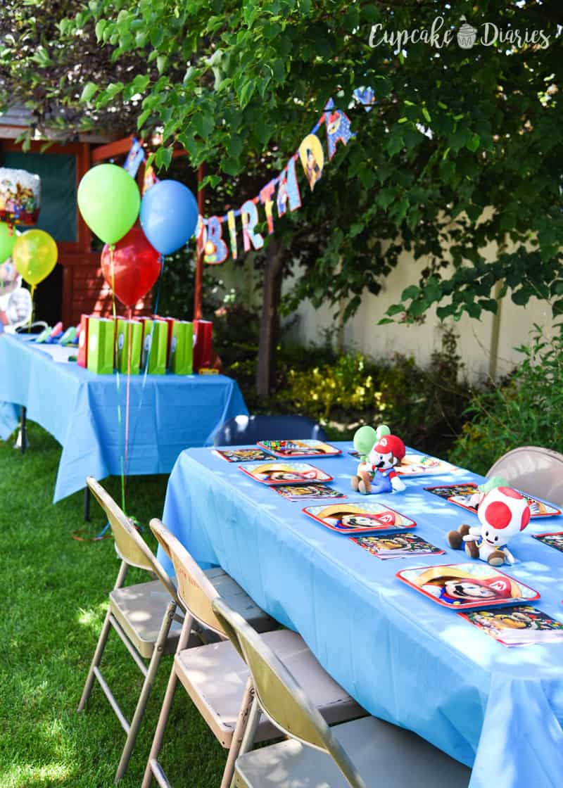 A Super Mario Bros. birthday party is the perfect theme for a Nintendo fan!