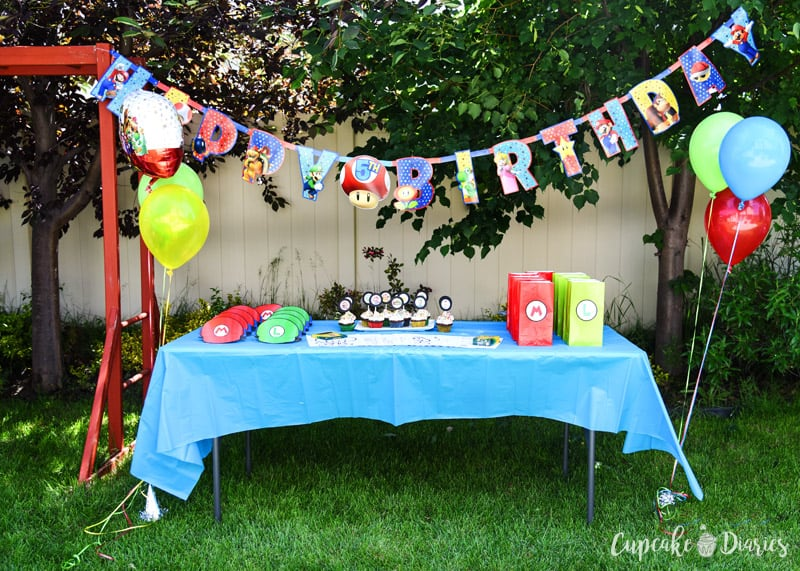 Everything you need for a Super Mario Bros. birthday party!