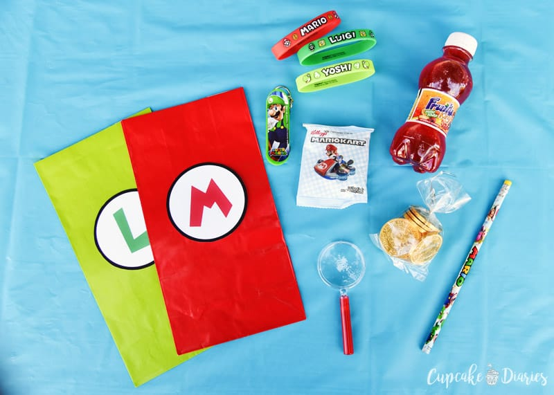 The kids are going to love taking home a Super Mario Bros. Birthday Party Goody Bag after the party!