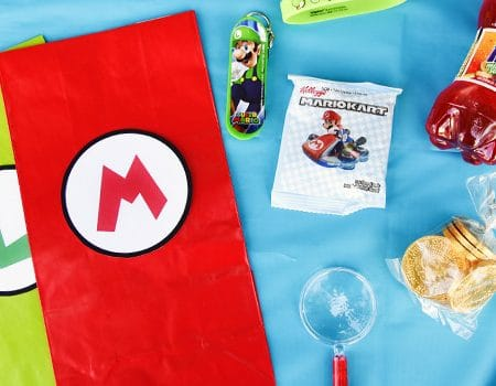 Super Mario Bros. Birthday Party Goody Bags with Free Printable Tags
