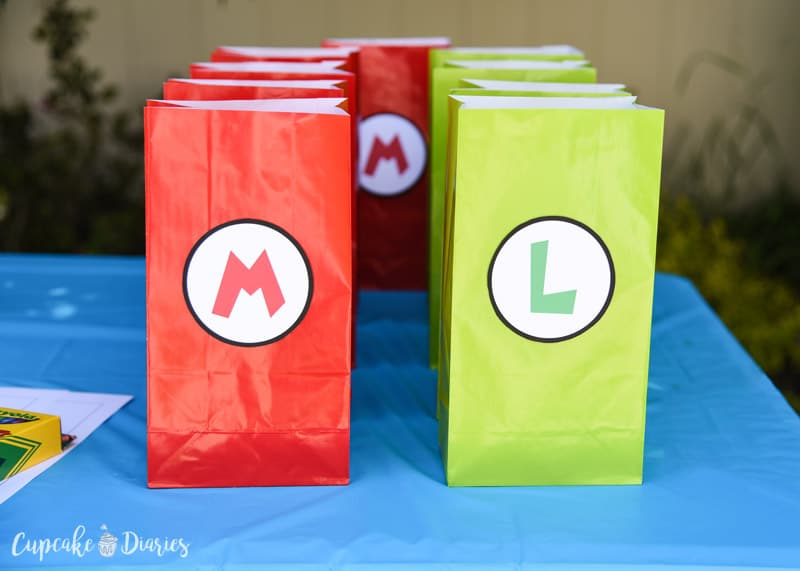 Super Cute And Easy Goody Bags For A Mario Bros Birthday Party