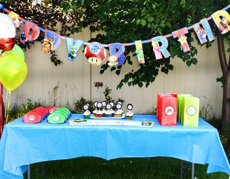 Super Mario Bros. Birthday Party with Free Printables