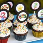 Every birthday party needs dessert! Super Mario Bros. cupcakes are so easy to make and you can download the printable toppers right here for free!