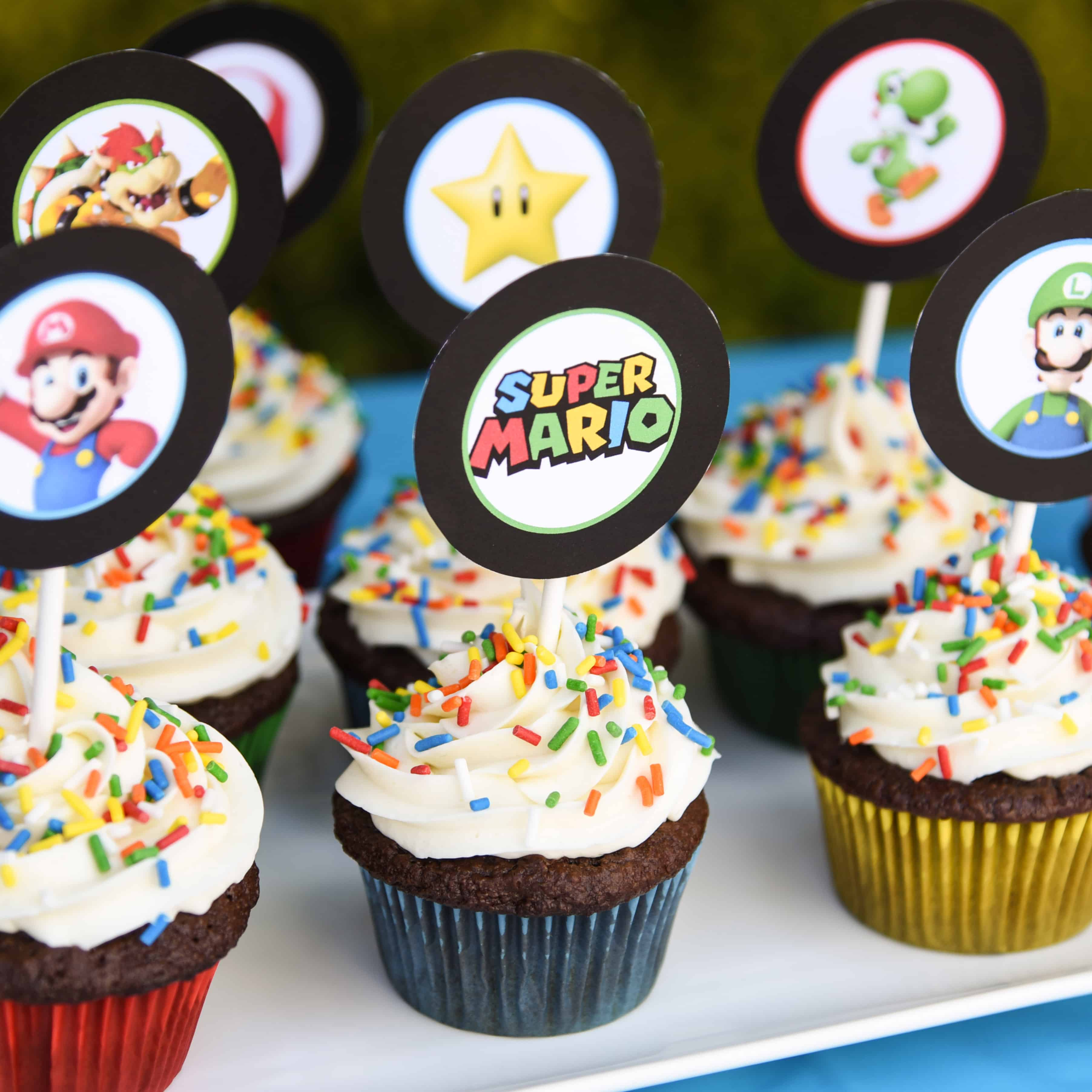 Every Birthday Party Needs Dessert Super Mario Bros Cupcakes Are So Easy To Make