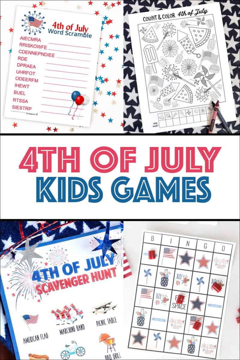 Great game ideas for the kids to play this Fourth of July!