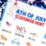 Fourth of July Scavenger Hunt for Kids