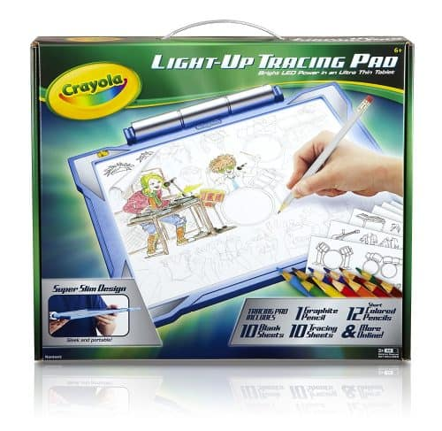 Kids can use tracing sheets to create works of art on this awesome light-up coloring pad! Perfect gift for a summer birthday.