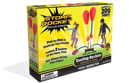 These dueling Stomp Rockets are so fun for outdoor play in the summer! Perfect gift for a summer birthday.