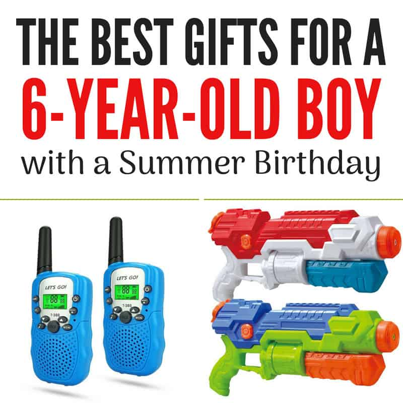 Water Guns Walkie Talkies And Other Great Gifts For A Six Year