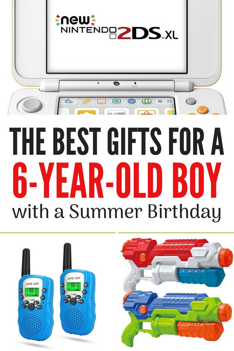 Your six year old will love getting any one of these gifts for their summer birthday! Some are really great for family road trips.