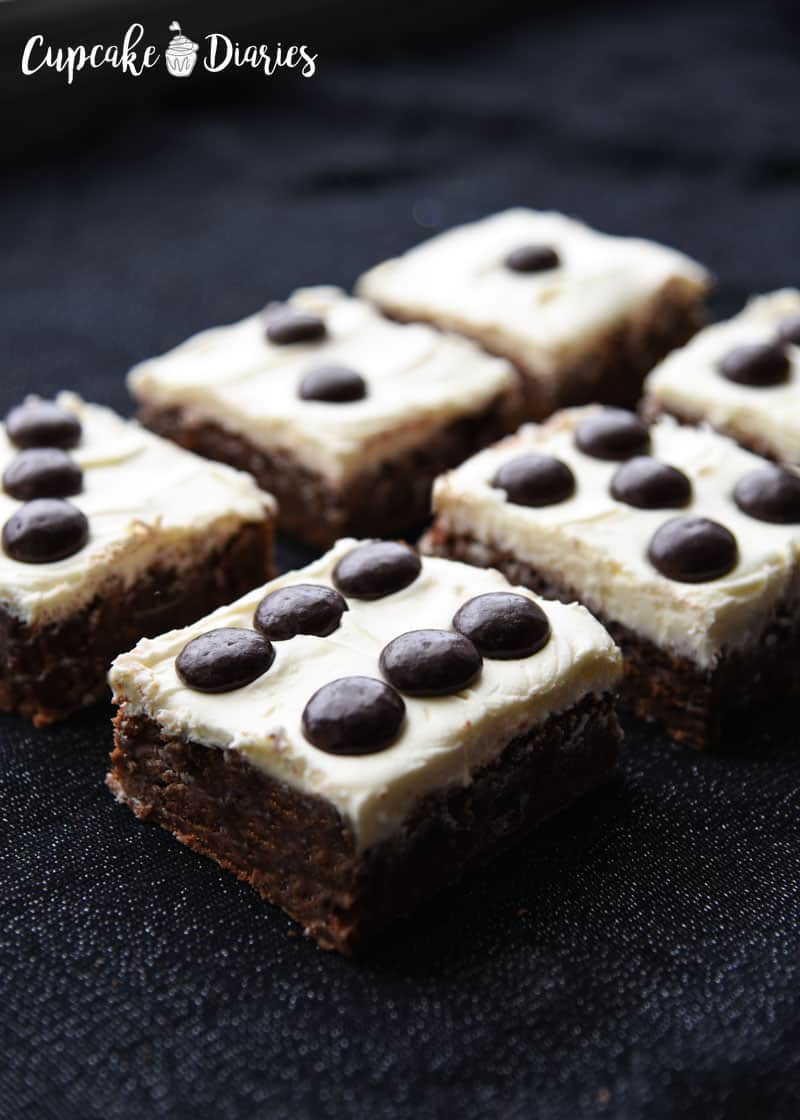 Bunco night needs dessert! Dice Brownies are so fun to serve for Bunco.