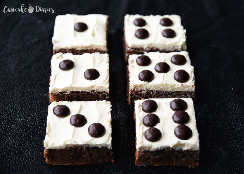 Your Bunco night needs dessert! Dice Brownies are the perfect option and so easy to make.