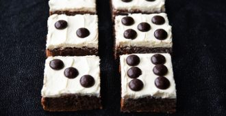 Dice Brownies - A great dessert for Bunco night! These brownies are easy to make and look just like dice.