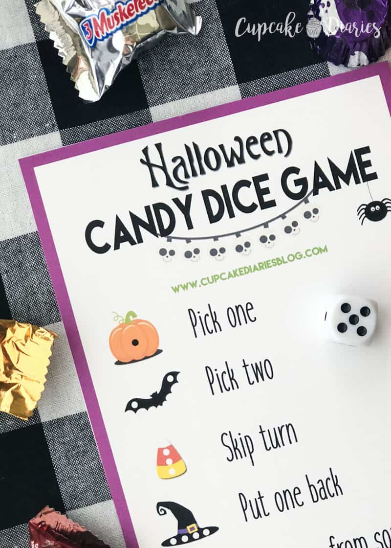 Kids and adults will love playing this Halloween Candy Dice Game! Who doesn't love winning Halloween candy?