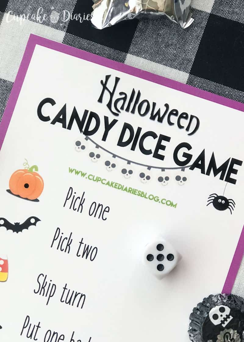 Halloween Candy Dice Game - A really easy and fun game that kids and adults will love!