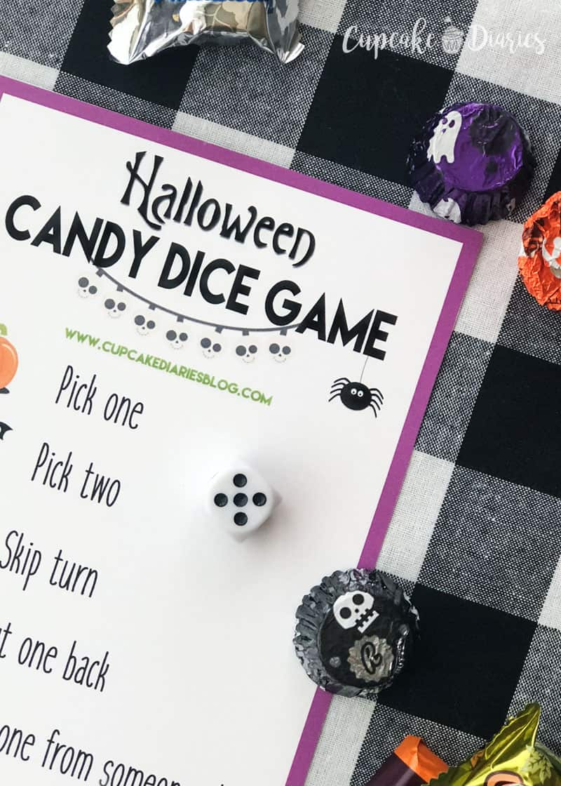 Halloween Candy Dice Game - So easy and fun for kids and adults!