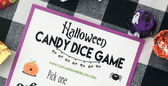 Halloween Candy Dice Game - A really easy Halloween game for kids and adults!