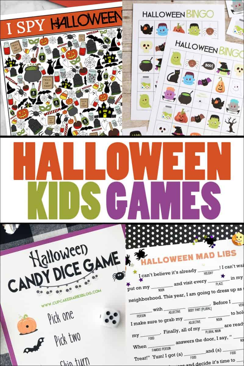 Four printable kids games for Halloween!