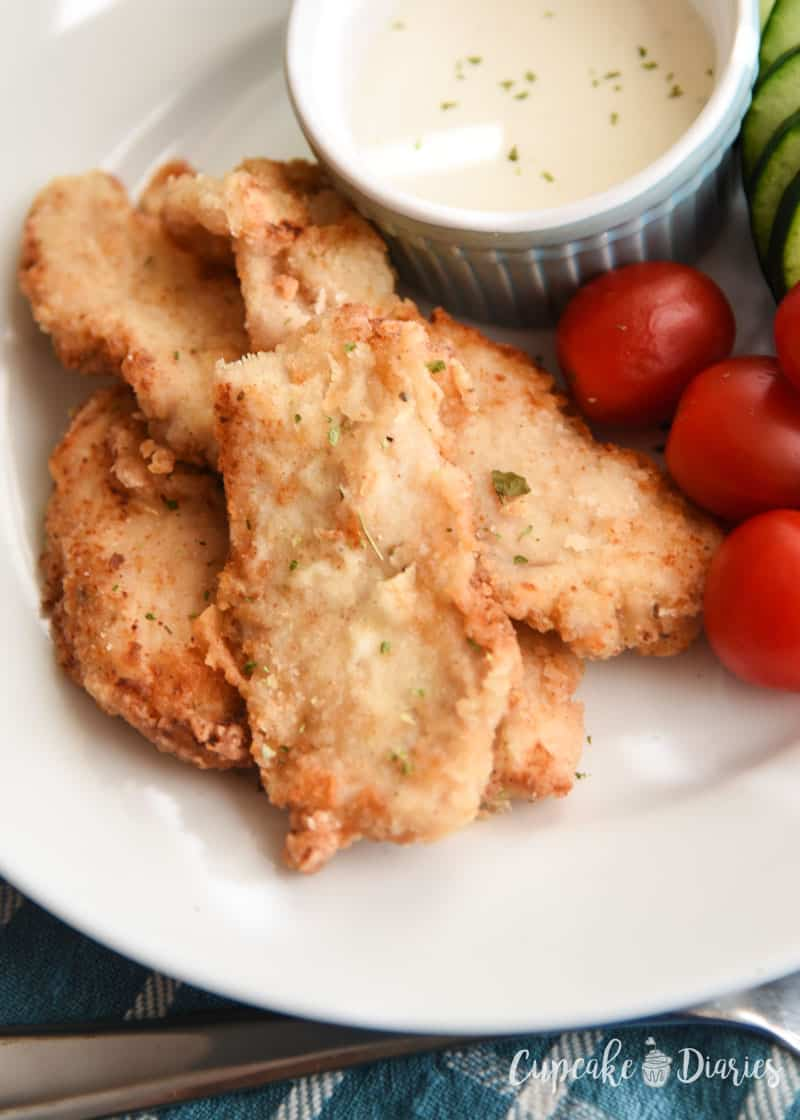 Homemade Low-Carb Chicken Tenders - A tasty classic made into a healthier version! Still crispy and delicious!