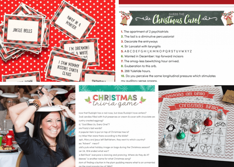 These holiday party games are going to make party prep super easy! They're so fun and easy to plan.