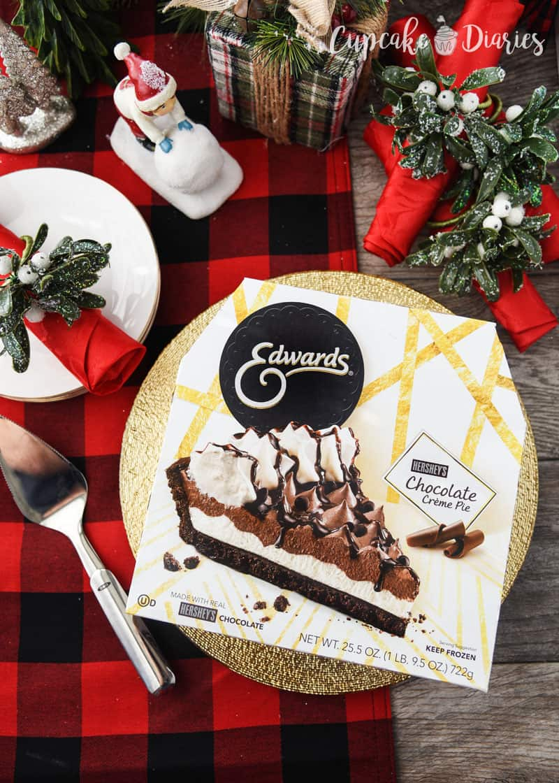 Edwards Hershey's Chocolate Crème Pie is a great dessert for the holidays!