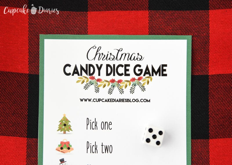 Christmas Candy Dice Game is a fun and easy game for the kids to play this Christmas!