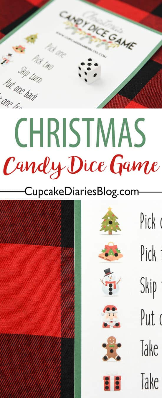 Christmas Candy Dice Game is a great activity for the kids at your family's Christmas party!
