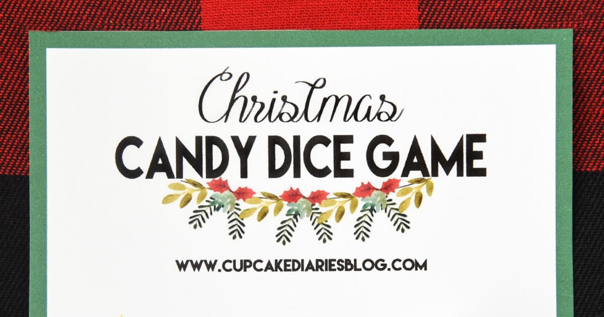 image about Christmas Dice Game Printable referred to as Xmas Sweet Cube Recreation - Printable Match for Young children