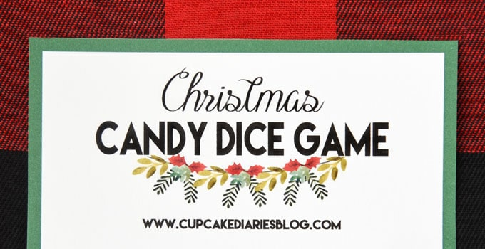 Christmas Candy Dice Game – Printable Game for Kids
