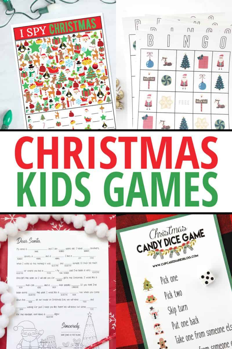 Christmas Candy Dice Game - Printable Game for Kids - Cupcake Diaries
