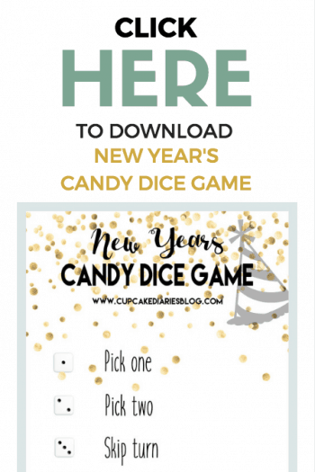 The kids are going to love playing New Year's Candy Dice Game on New Year's Eve!