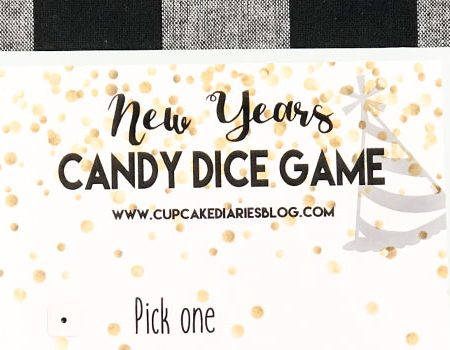 New Years Candy Dice Game – Printable Game for Kids