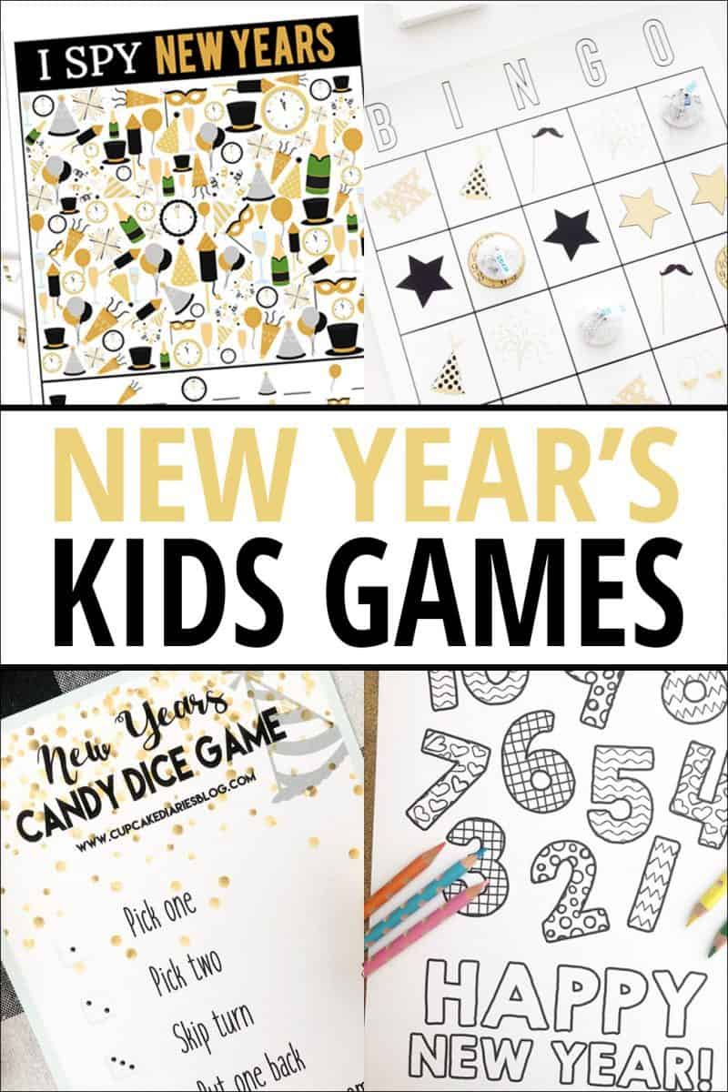 New Years Candy Dice Game - Printable Game for Kids ...