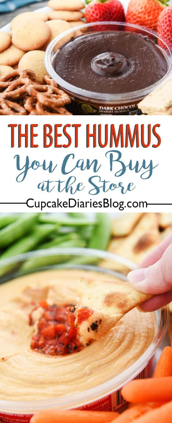If you're entertaining, go get your hummus at the store instead of making it! This is the BEST store-bought hummus.