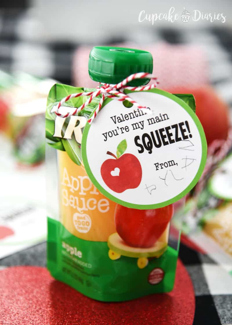 Applesauce Valentines are great for kids and especially preschoolers!