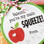 Applesauce Valentines for Preschoolers and Kids – Free Printable