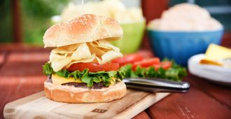 Potato Chip Burgers are just about as American as you can get! This is such a good burger for summer grilling!