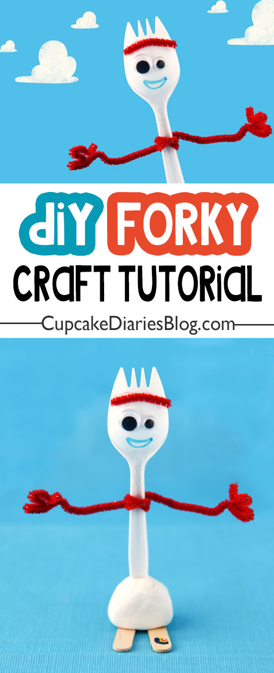 Easy Forky Craft for kids! They will love making this DIY Forky as a summer activity or at a birthday party.