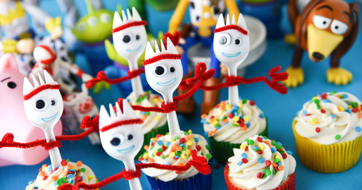Forky Cupcakes Toy Story 4 Recipe Cupcake Diaries
