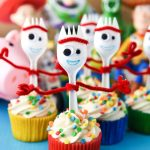 Forky Cupcakes are the perfect dessert for a Toy Story 4 birthday party! They're so easy and a great way to bring that funny little spork to the party.