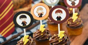Harry Potter Cupcakes with Printable Toppers