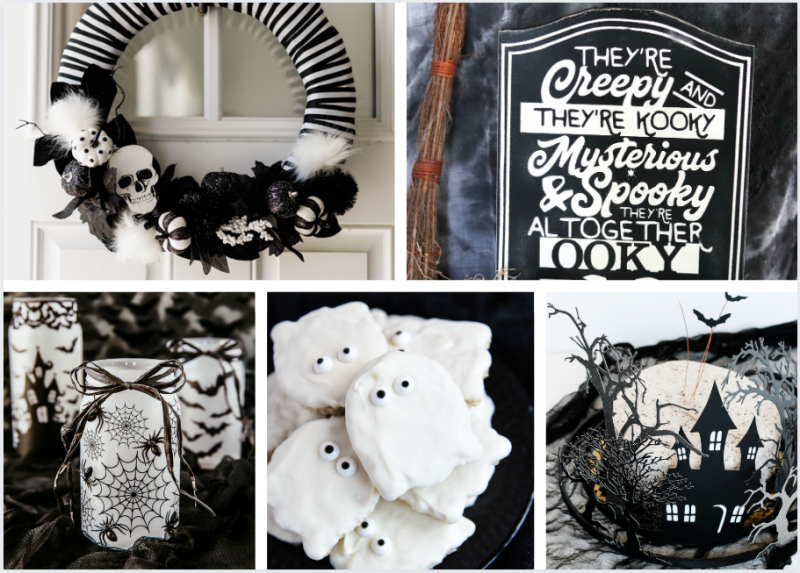 Black and white Halloween ideas - Decor, recipes, and more!