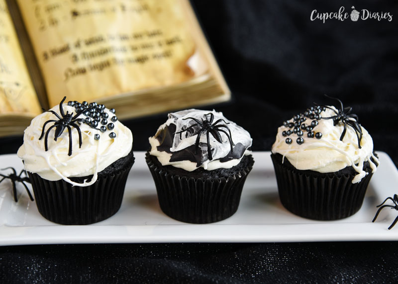 Spiders were meant to be on desserts. These cupcakes are so creepy and delicious!