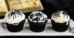 Black and White Spider Web Cupcakes